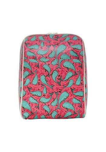 Damen DOGO Schultertasche Whales in Pink, Vegan rosa   08680544122103