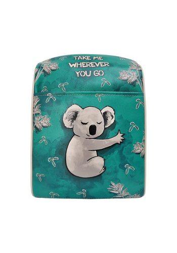 Damen DOGO Schultertasche Koala hug, Vegan grün   08680544147090