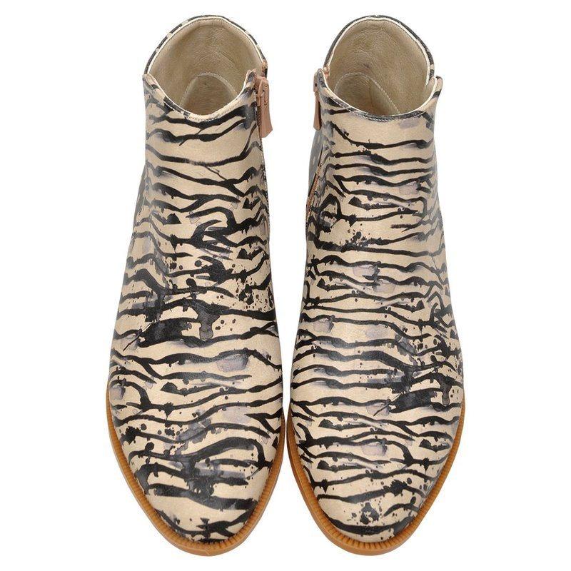 Damen DOGO Zebra illusion Chelseaboots, Vegan  | 08680544131433
