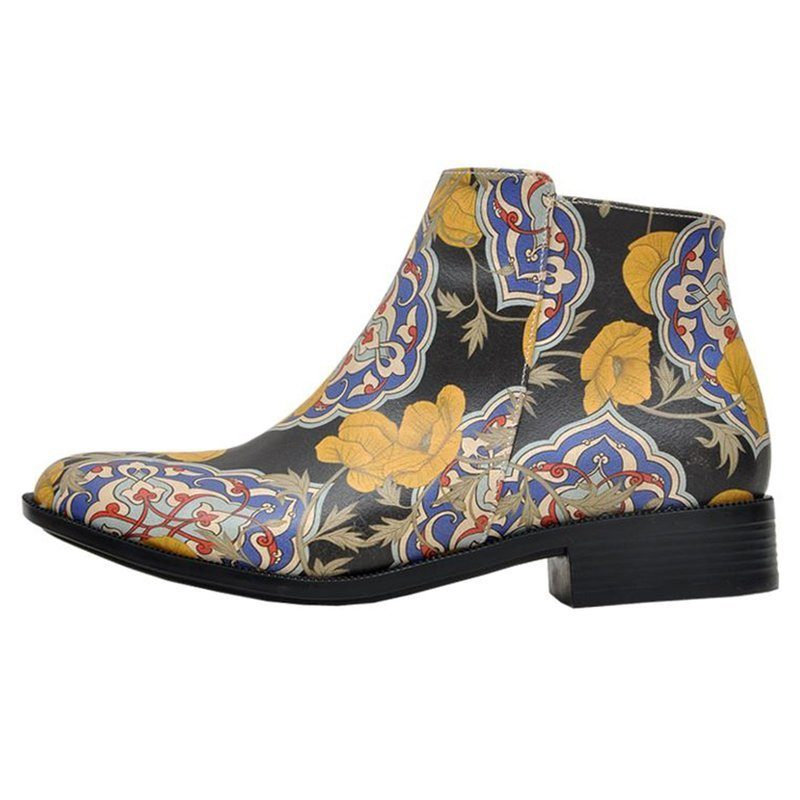 DOGO Tiles and Flowers Chelseaboots, Vegan  schwarz