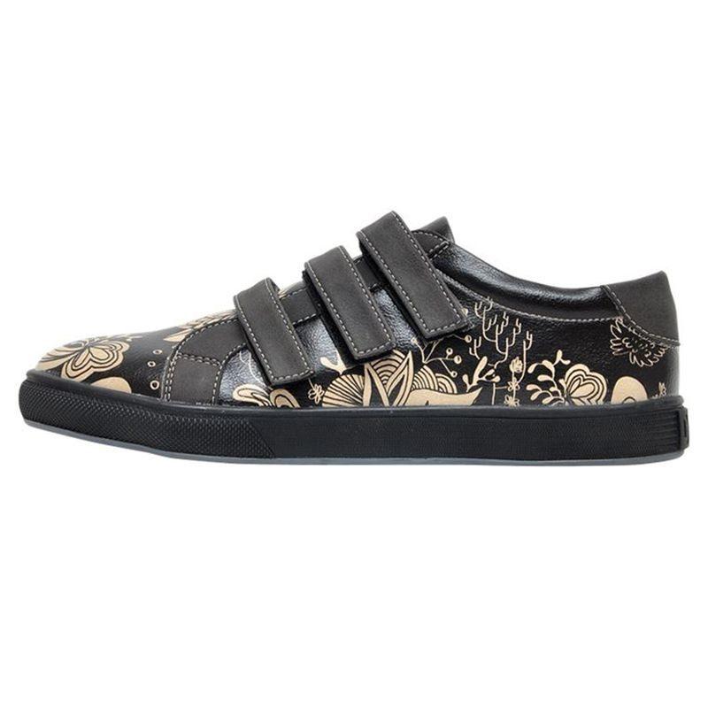DOGO »Black Floral« Sneaker, Vegan, schwarz, schwarz