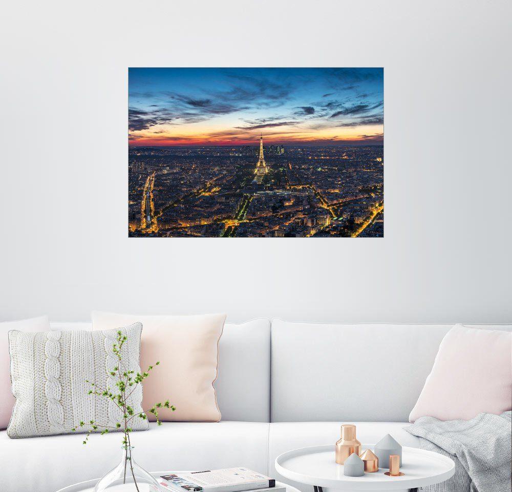 Posterlounge Wandbild - Jan Christopher Becke »Eiffelturm in Paris bei Nacht«