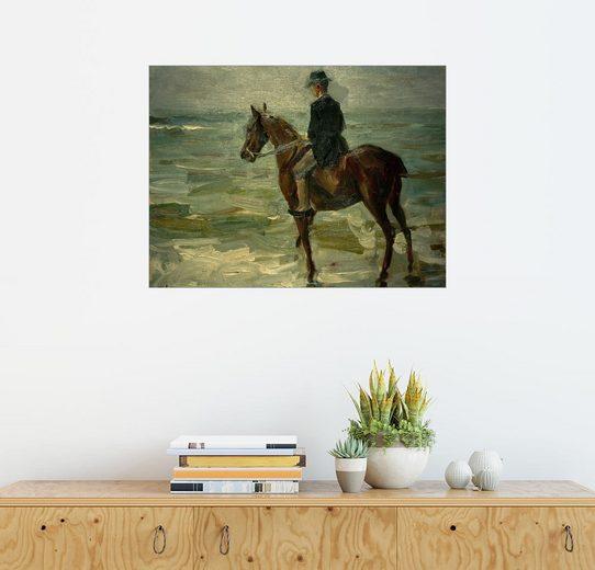 Posterlounge Wandbild - Max Liebermann »Reiter am Meer nach links«
