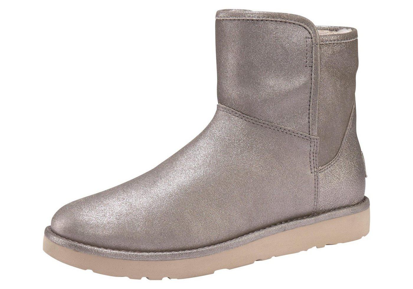 UGG »Abree Mini Glimmer« Winterboots im trendy Metallic Look   Schuhe > Stiefeletten > Winterstiefeletten   Leder - Jeans   UGG