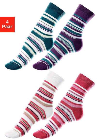 Lavana Socken (4-Paar) mit Ringelmuster