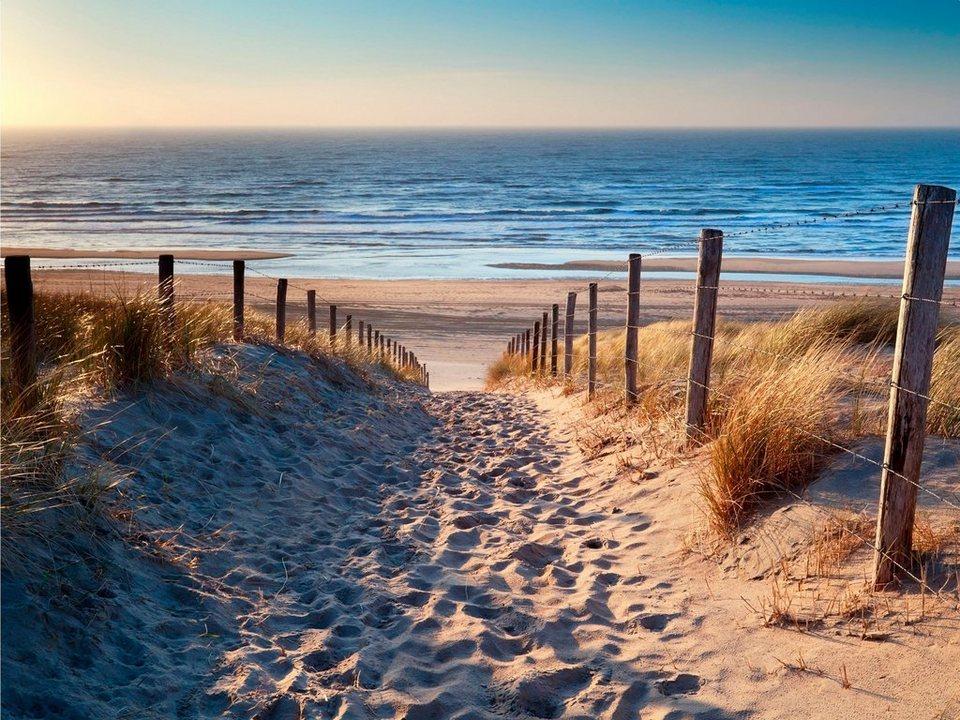 home affaire leinwandbild »sandstrand« meer strand 80