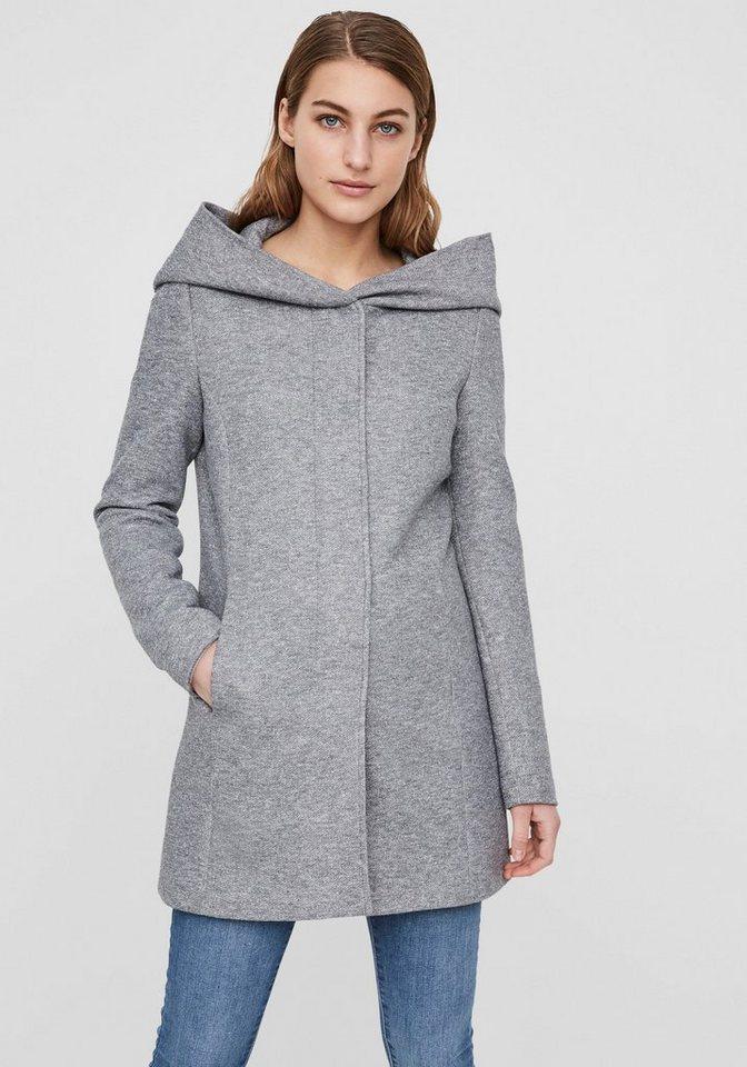 Vero moda mantel grau mit kapuze