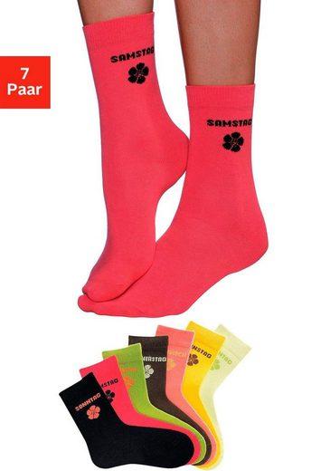 H.I.S Socken (7-Paar) für Kinder mit Blumenmotiv