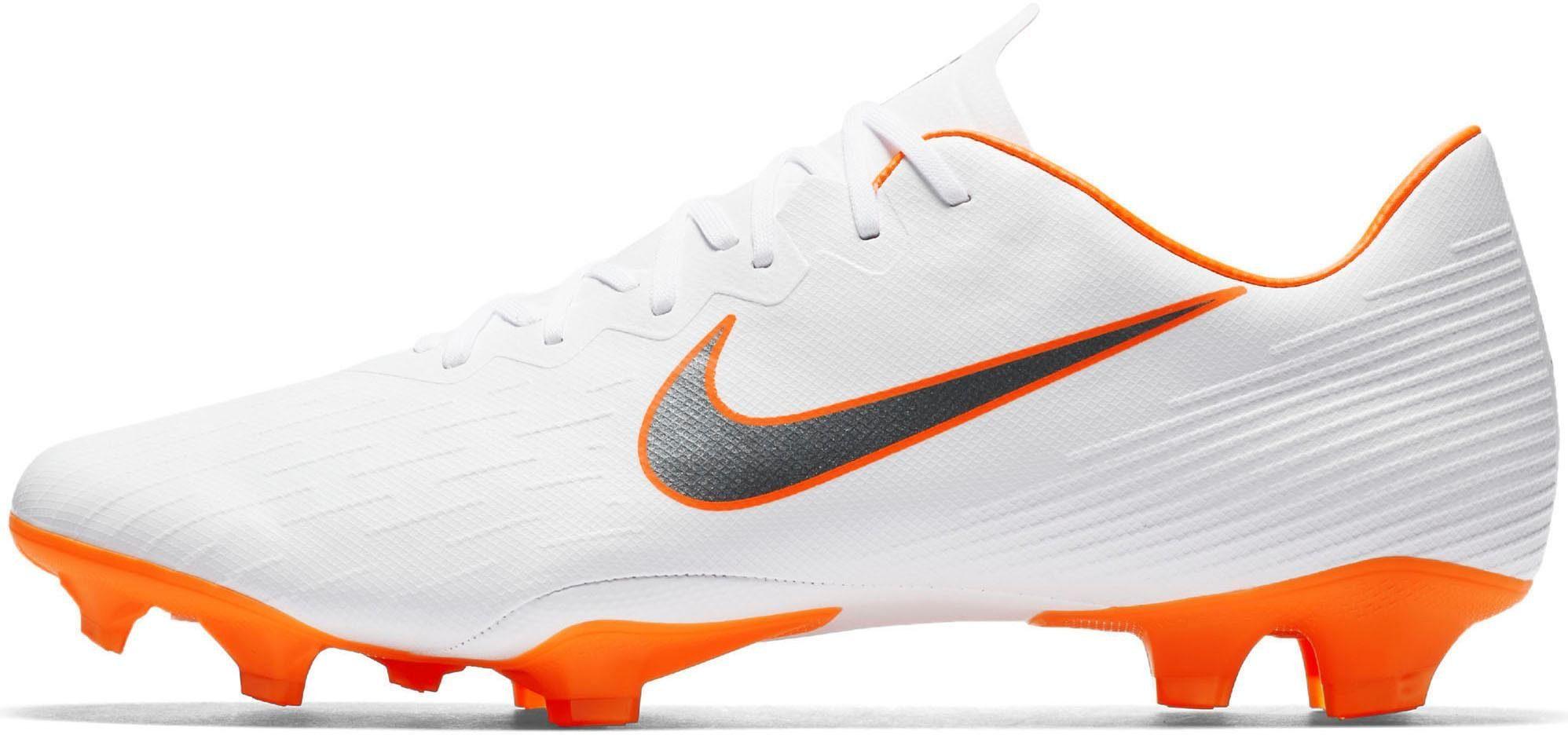 Nike Vapor 12 Pro (FG) Firm-Ground Fußballschuh  weiß-neonorange