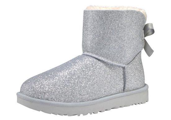 UGG »Mini Bailey Bow Sparkle« Schlupfboots im trendy Glitzer-Look