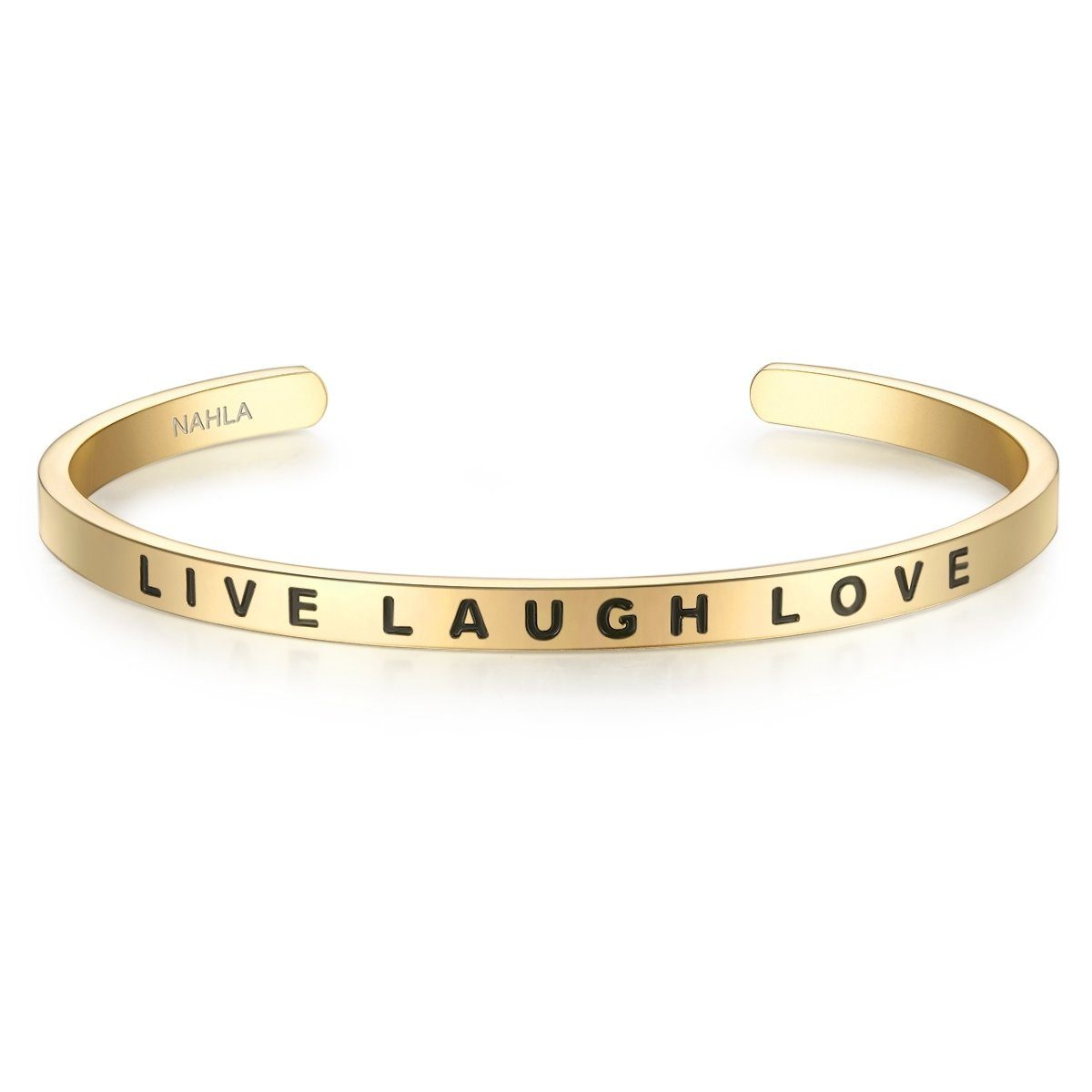 Nahla Jewels Armreif »X229« mit Slogan LIVE LAUGH LOVE