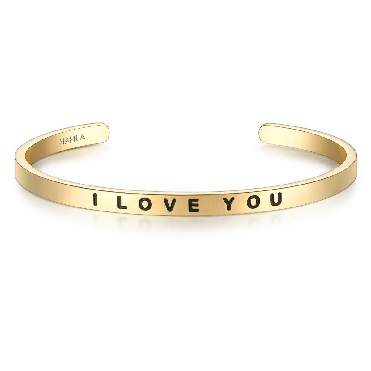 Nahla Jewels Armreif »X277«, mit Slogan I LOVE YOU