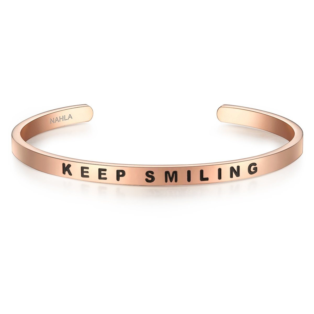 Nahla Jewels Armreif »X365« mit Slogan KEEP SMILING