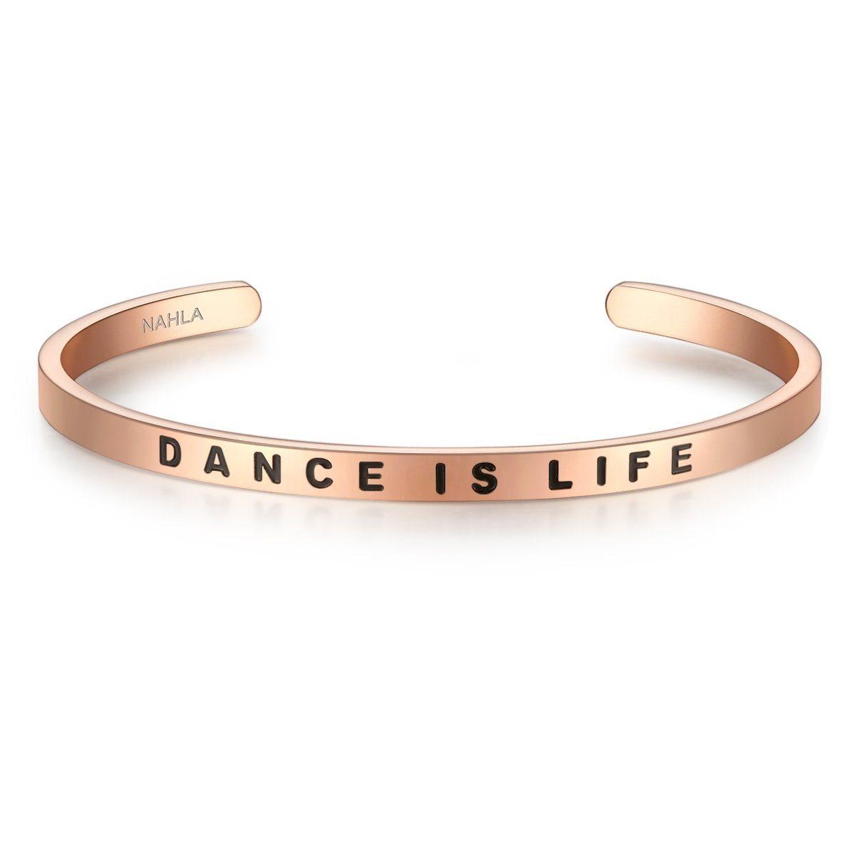 Nahla Jewels Armreif »X401« mit Slogan DANCE IS LIFE