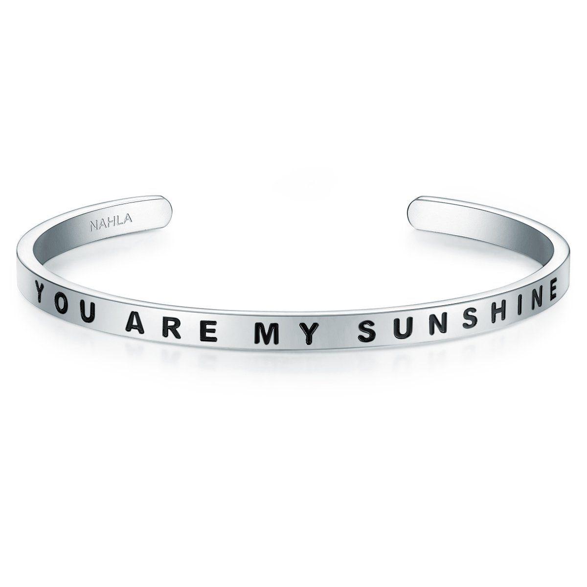 Nahla Jewels Armreif »X321«, mit Slogan YOU ARE MY SUNSHINE