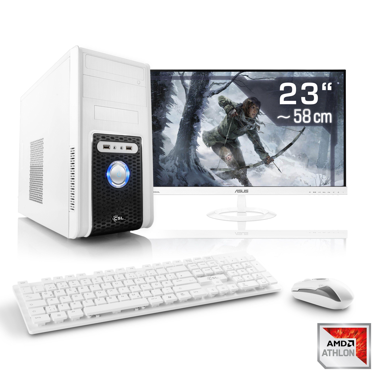 CSL Gaming PC Set Athlon X4 950 | GTX 1050 Ti | 8GB RAM | SSD | TFT »Sprint T4971 Windows 10 Home«