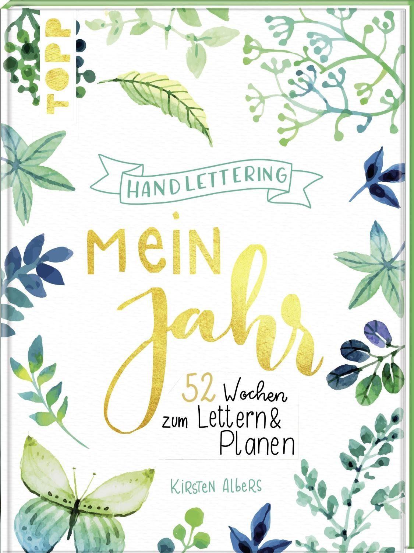 """Topp Buch """"Handlettering: Mein Jahr"""" 128 Seiten"""