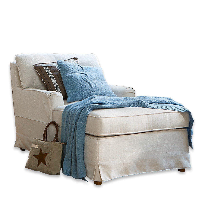 Loberon Chaiselongue »Myersville« | Wohnzimmer > Sessel > Relaxliegen | Kiefernholz - Polyester | Loberon