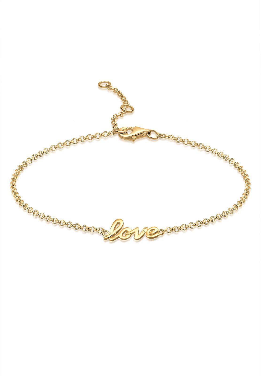 Elli Fußkette »Love 925 Sterling Silber«