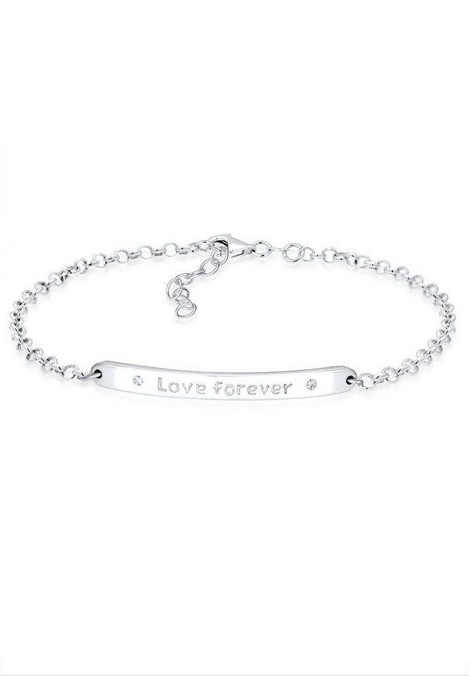 Elli Bettelarmband »Love forever Swarovski Kristalle Sterling Silber«   Schmuck > Armbänder > Bettelarmbänder   Elli