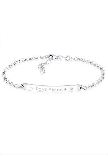 Elli Bettelarmband »Love forever Swarovski Kristalle Sterling Silber«