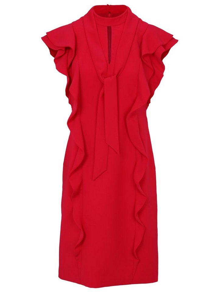 93d25bf8788762 heine TIMELESS Kleid mit Volants und Bindeband im Nacken online ...