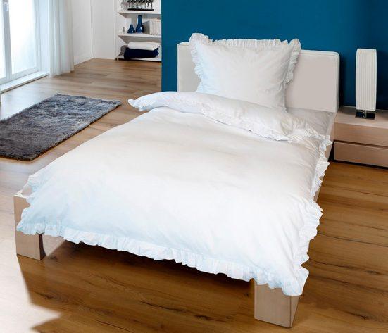 Bettwäsche »Rüschen«, Goldmond, mit Rüschen