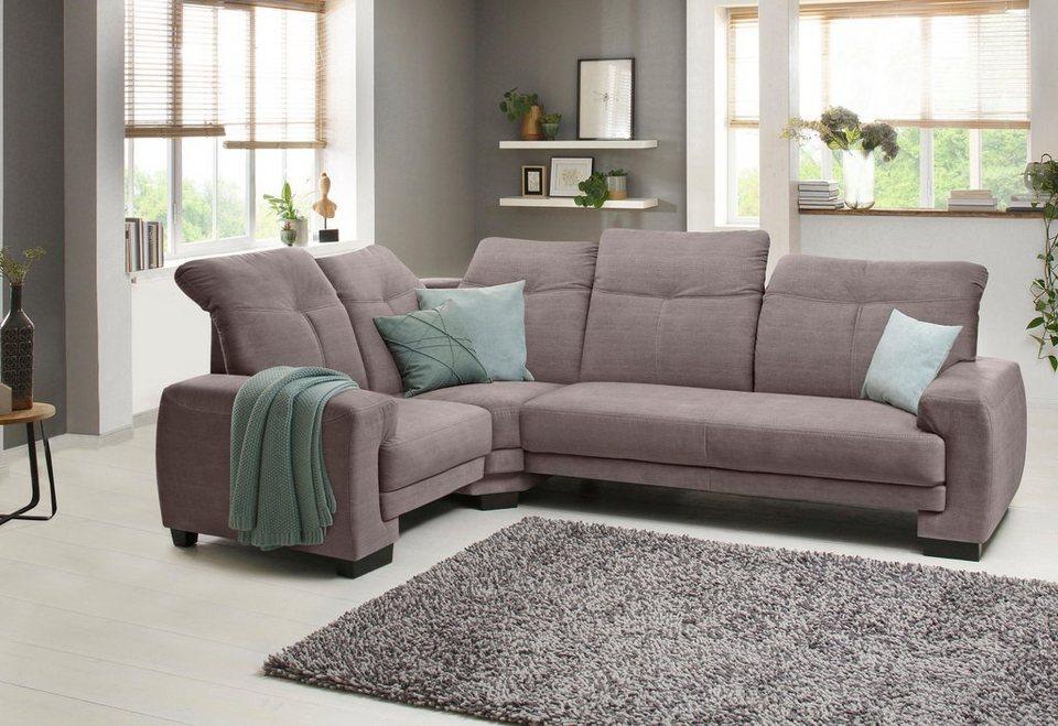 home affaire ecksofa napoli mit kopfteilverstellung federkern klein online kaufen otto. Black Bedroom Furniture Sets. Home Design Ideas