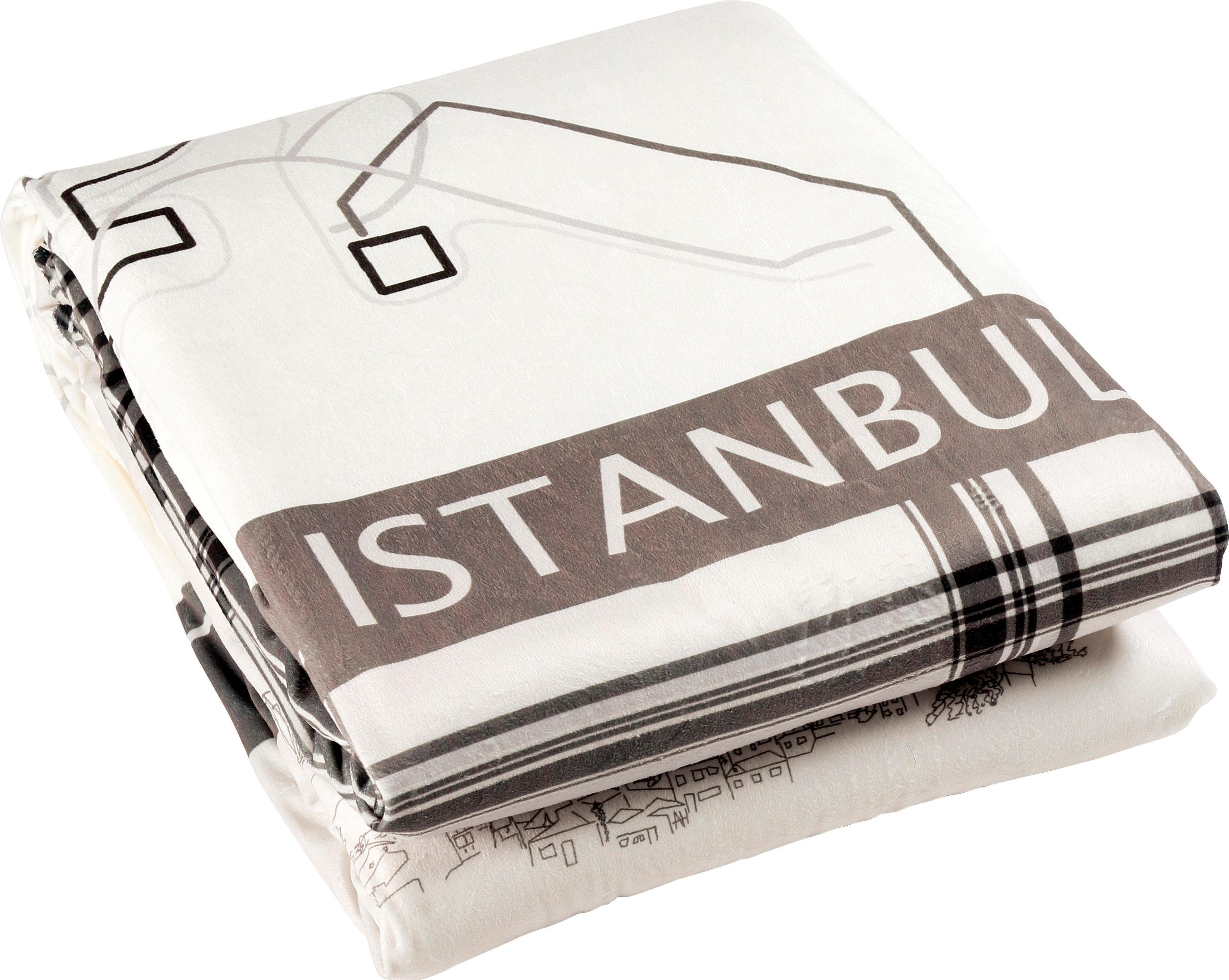 Wohndecke »Istanbul«, Goldmond, im Städte Design