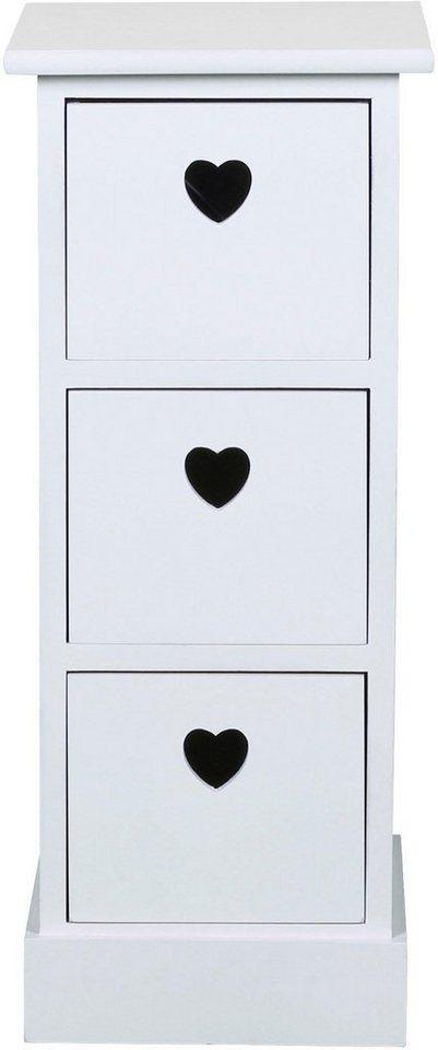 SIT  Kommode Macao mit Grifflöchern in Herzform weiß | 04055195121036