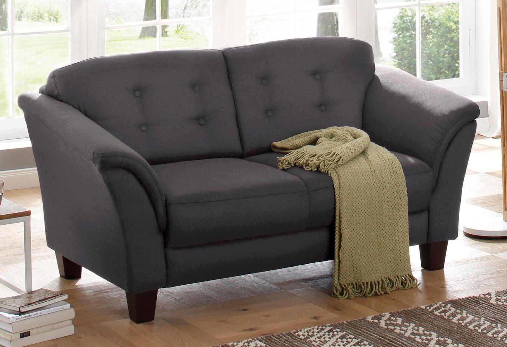 Home affaire 2-Sitzer »Lillesand«, mit Federkern, Knopfheftung im Rücken, Füße Buche