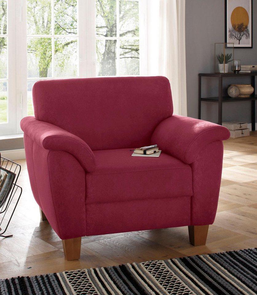 home affaire sessel alta mit federkern und kontrastnaht. Black Bedroom Furniture Sets. Home Design Ideas