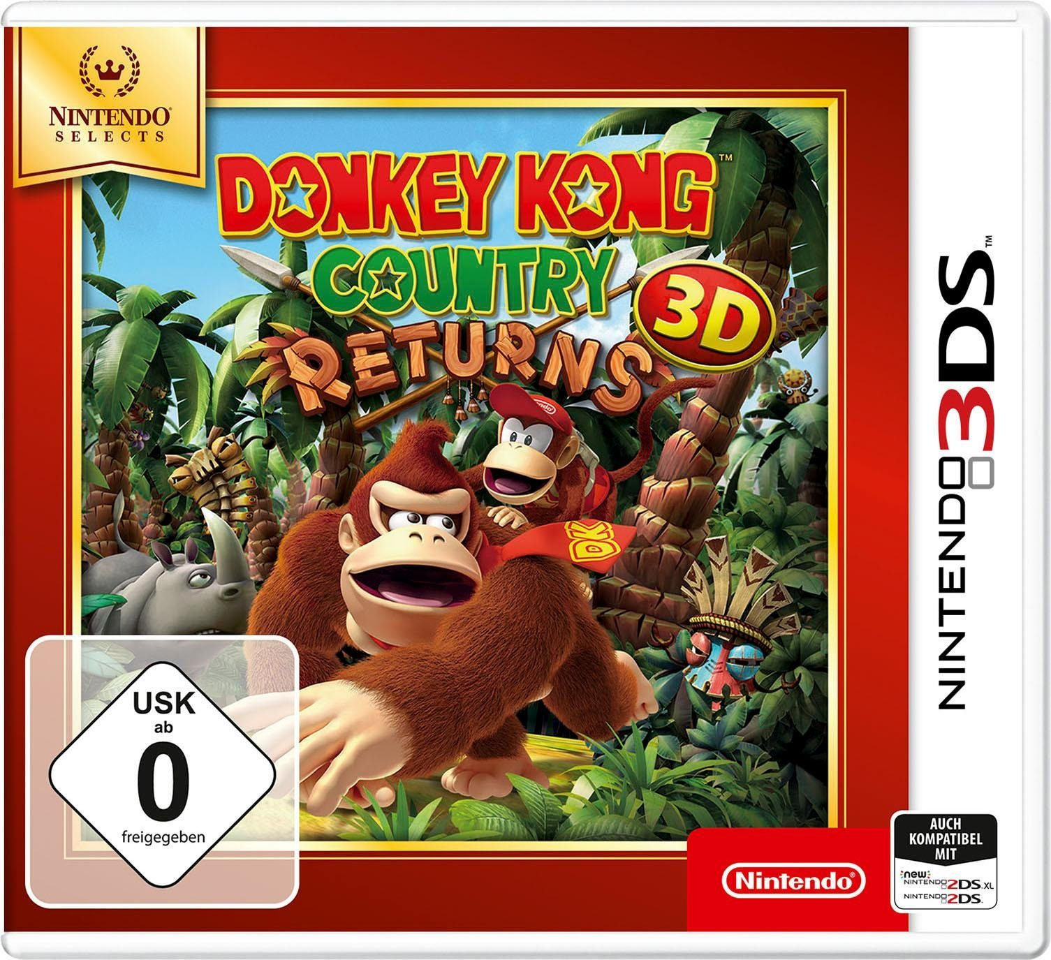 Donkey Kong Country Returns 3D Nintendo 3DS, Nintendo Selects