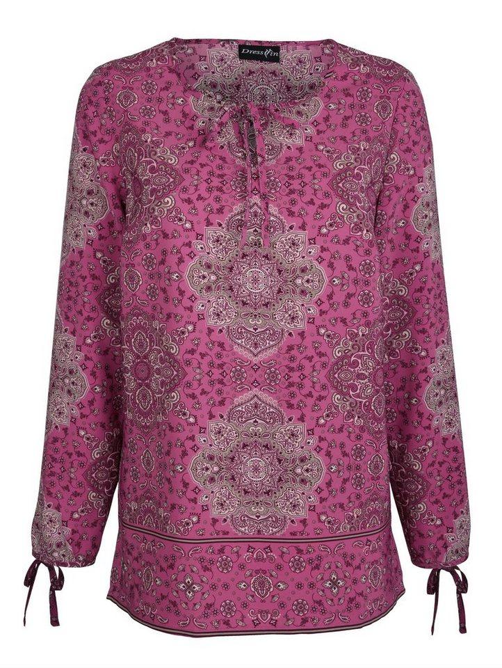 Dress In Tunika mit platziertem Druckdessin | Bekleidung > Tuniken > Sonstige Tuniken | Rosa | Dress In