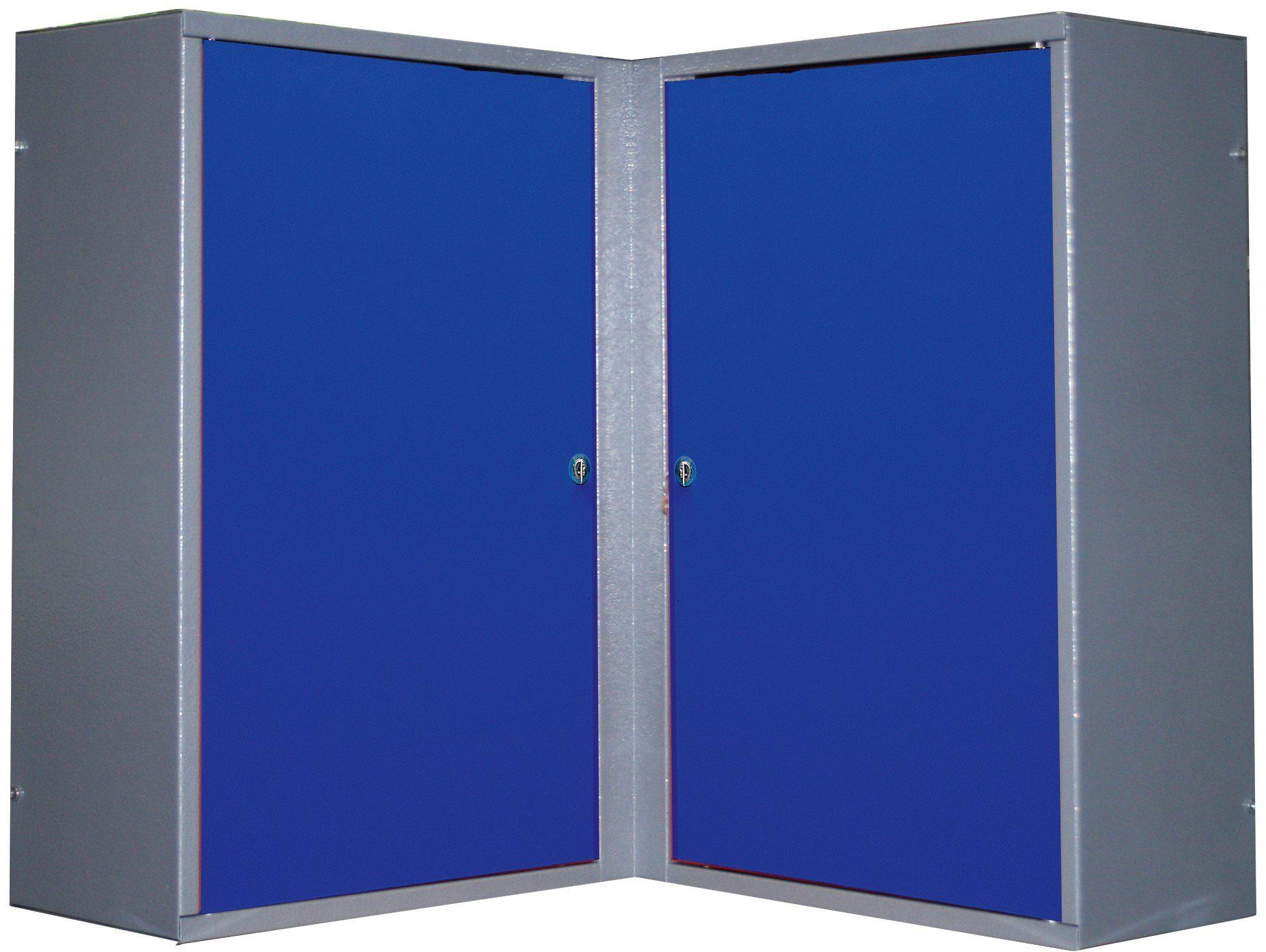 Küpper Eck-Hängeschrank »2 Türen, 4 Einlegeböden, in ultramarinblau«