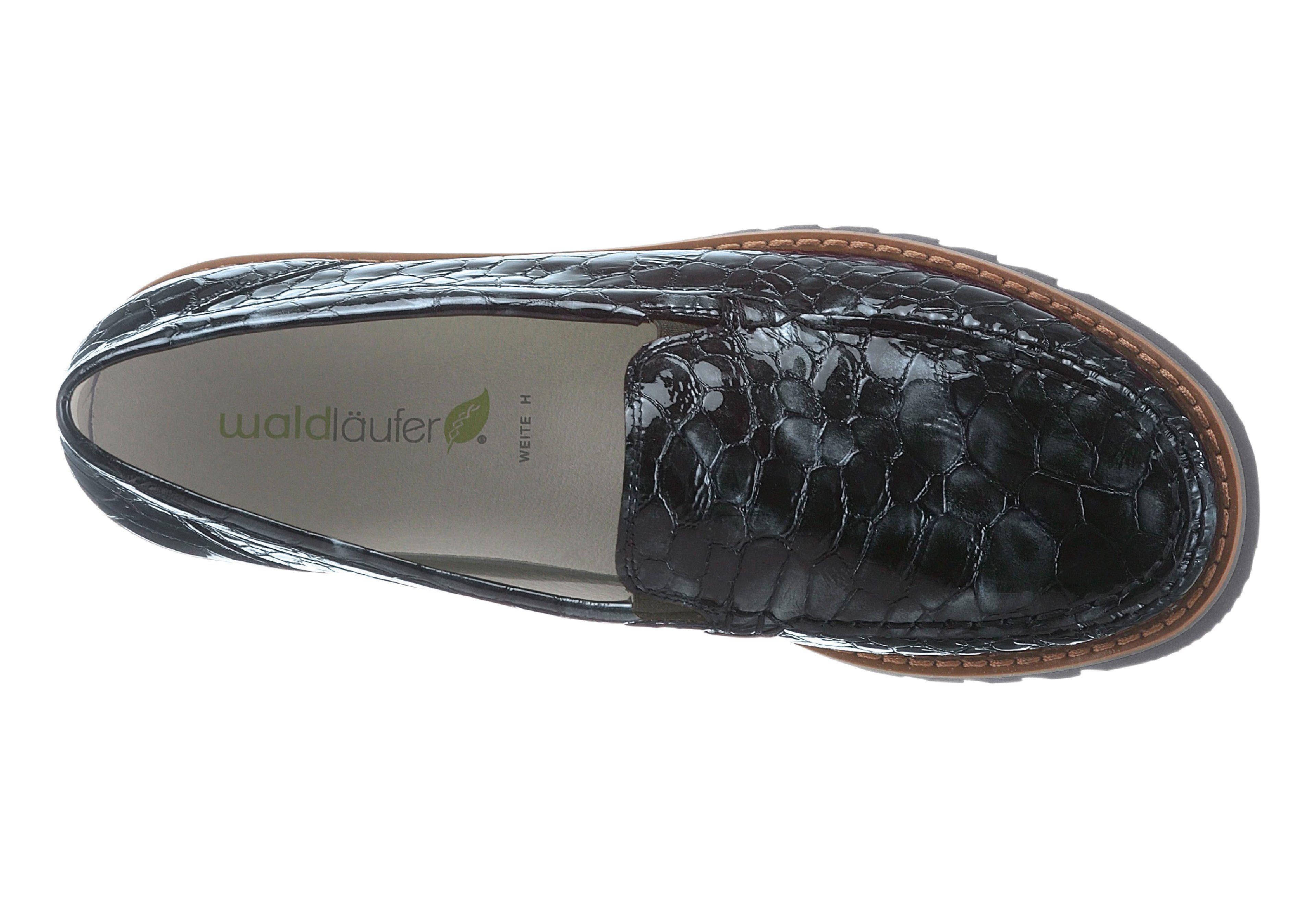 Waldläufer Slipper mit Wechselfußbett kaufen  schwarz-lack