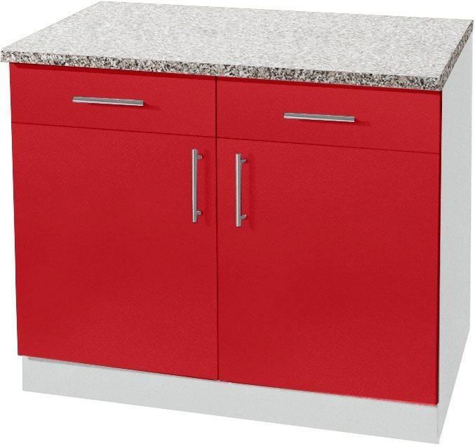 wiho Küchen Unterschrank »Kiel« mit 2 Schubladen und 28 mm starker  Arbeitsplatte, Tiefe 60 cm online kaufen | OTTO