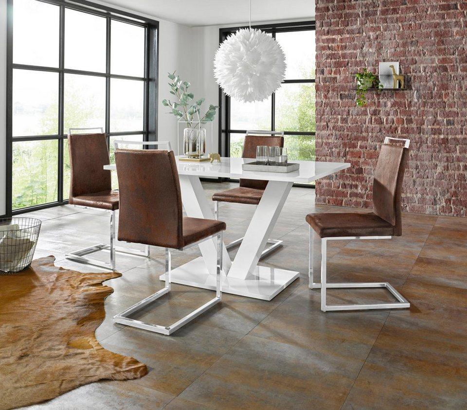 193ea233cfc8f9 Essgruppe »Andy Jella« mit Tisch und 4 Stühlen