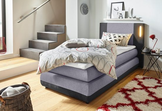 COLLECTION AB Boxspringbett »Abano«, inkl. Topper und LED-Beleuchtung