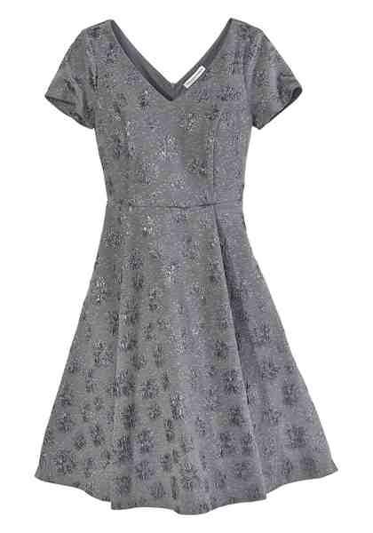 GUIDO MARIA KRETSCHMER A-Linien-Kleid mit schimmerndem Strukturmuster