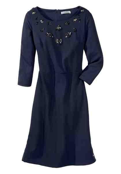 GUIDO MARIA KRETSCHMER Abendkleid mit Ziersteinbesatz am Ausschnitt