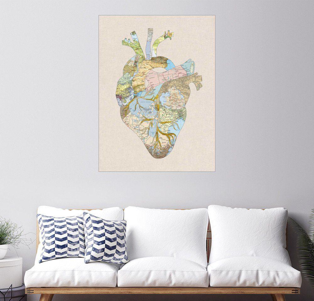 Posterlounge Wandbild - Bianca Green »A Traveler's Heart«