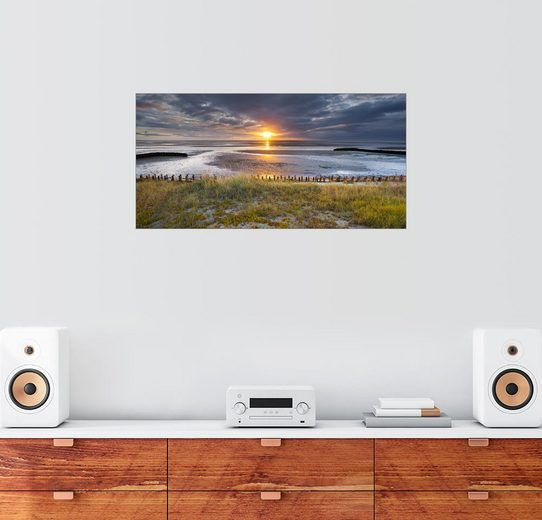 Posterlounge Wandbild - Rainer Mirau »Sonnenaufgang im Watt, nahe List, Sylt, nordd...«