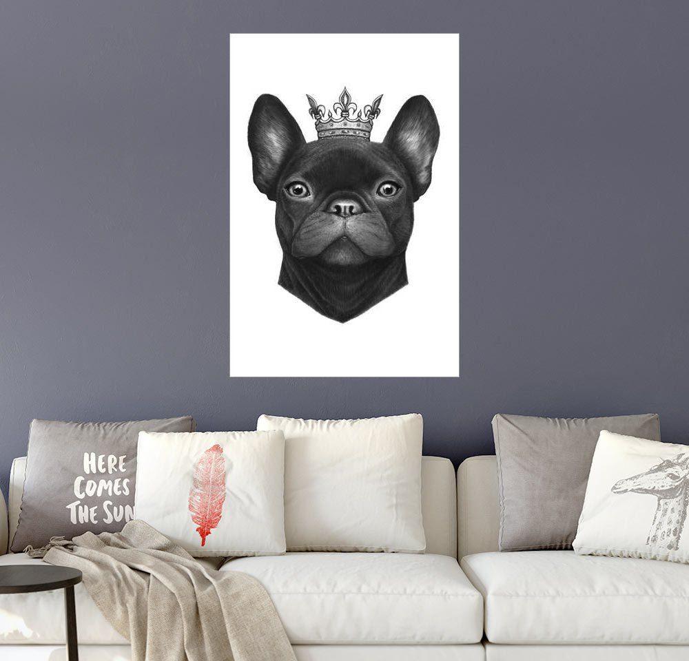 Posterlounge Wandbild - Valeriya Korenkova »Queen French bulldog«