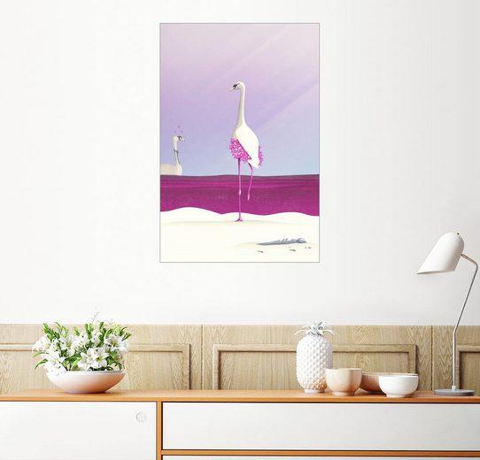 Posterlounge Wandbild - Romina Lutz »Flamingo Fatale«