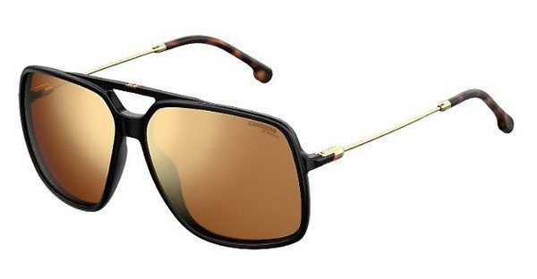 Carrera Eyewear Herren Sonnenbrille » CARRERA 155/S«, schwarz, 807/K1 - schwarz/gold