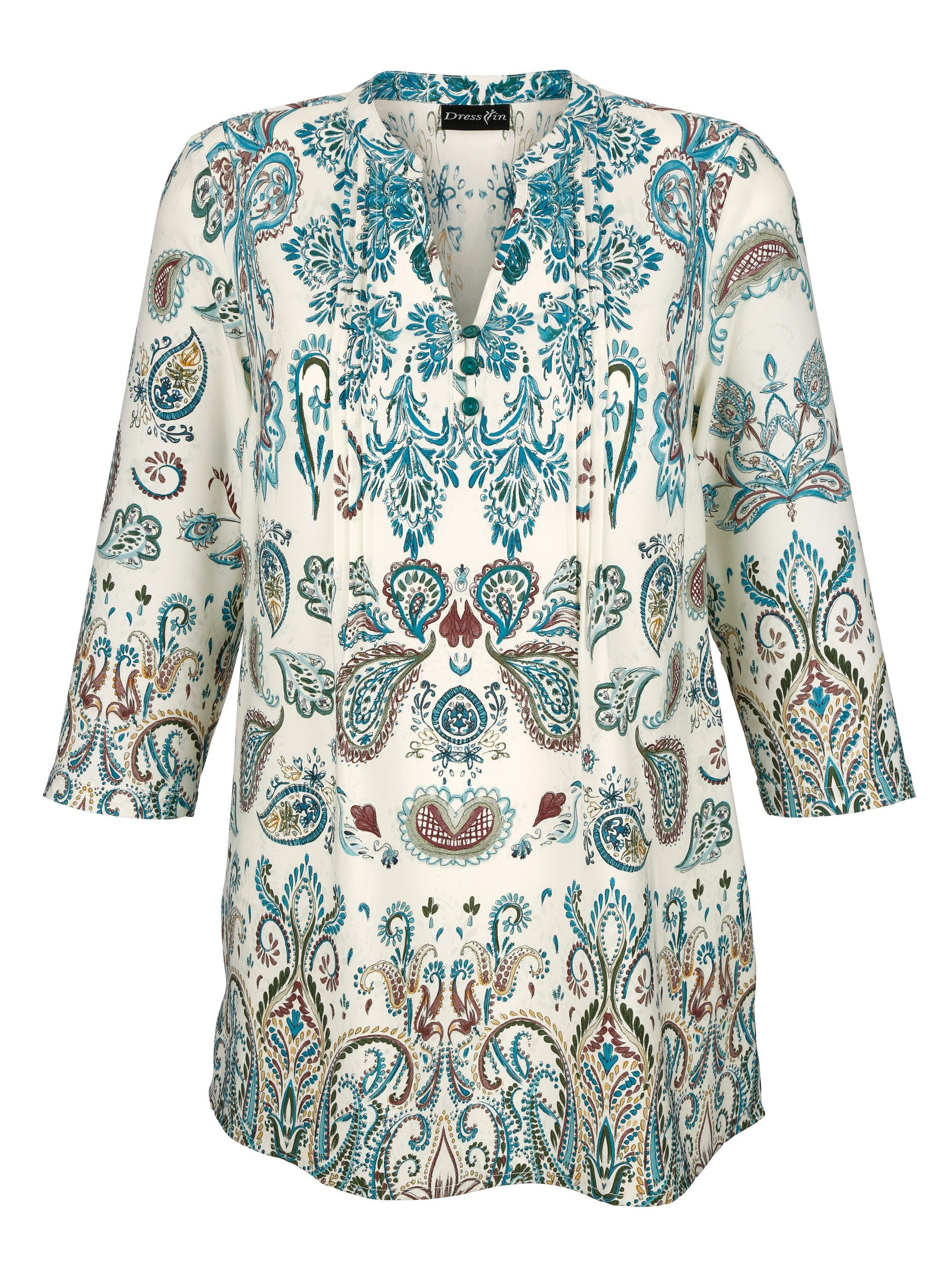Dress In Tunika mit schönem Paisleydruck rundum | Bekleidung > Tuniken > Sonstige Tuniken | Muster | Polyester | Dress In