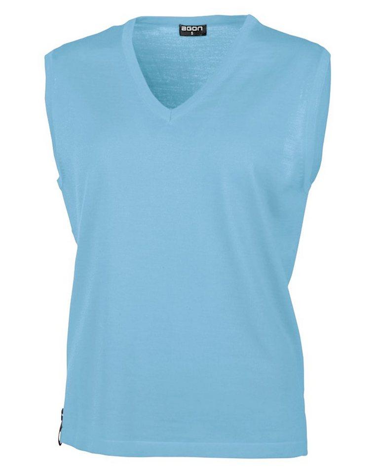 Damen agon® V-Pullunder mit Total-Easy-Care-Behandlung blau, grau, grün, orange, rot, schwarz | 04054208005547