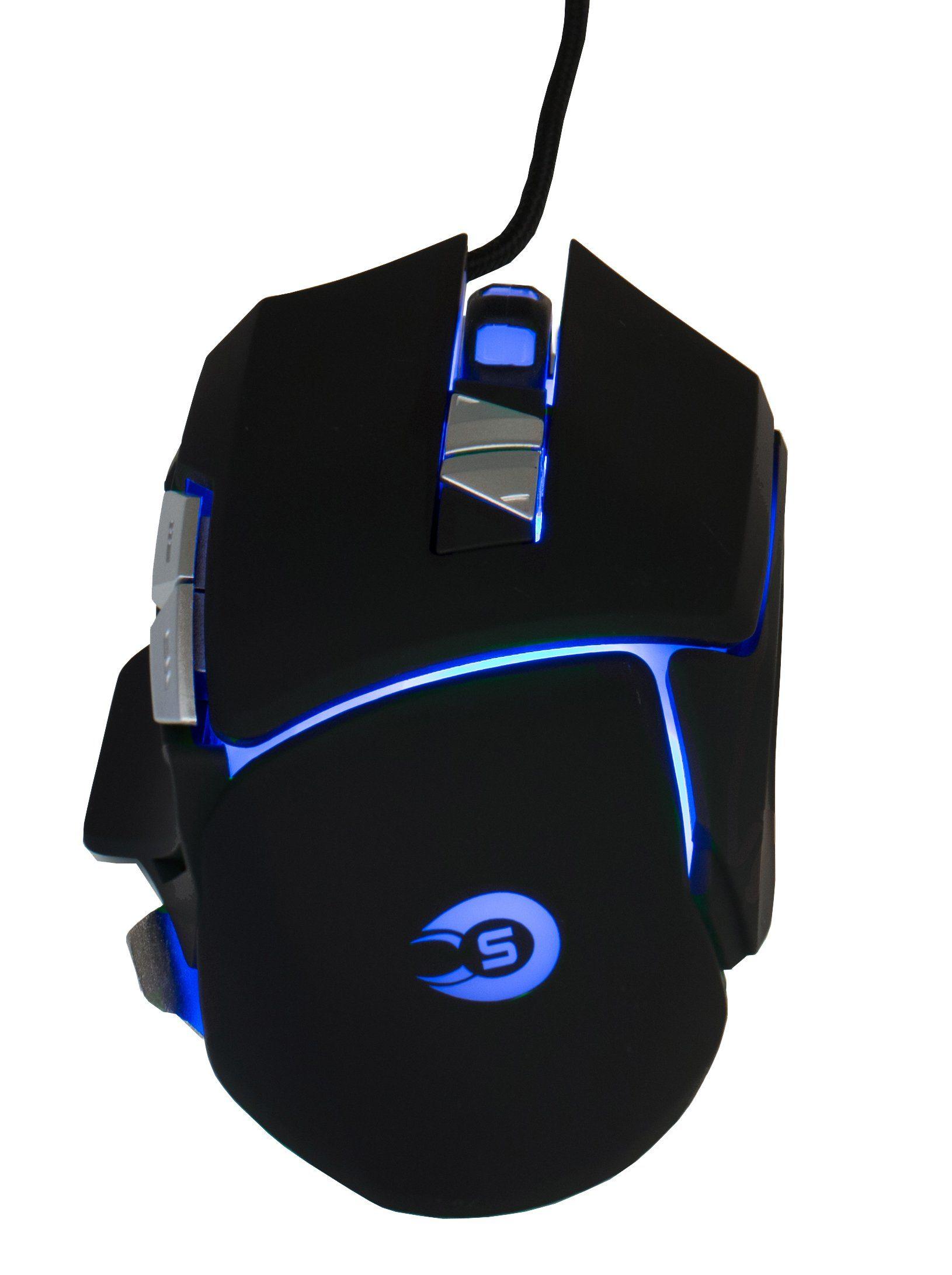 HYRICAN Gaming Striker Gaming-Maus GM551 USB mit RGB Beleuchtung »Mäuse/Joystick«