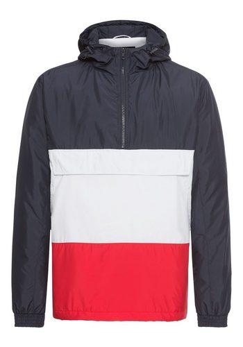 Herren URBAN CLASSICS Kurzjacke Color Block Pullover Jacket Elastischer Bund bunt,mehrfarbig | 04053838279175
